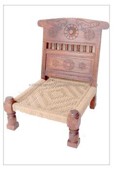 handmade wooden chairs ergonomic chair kneeling indian vintage woven buy