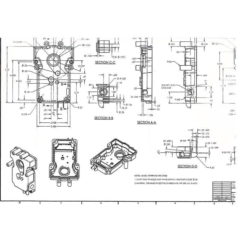 High Precision 3d Drawing Sheet Metal Stamping Parts