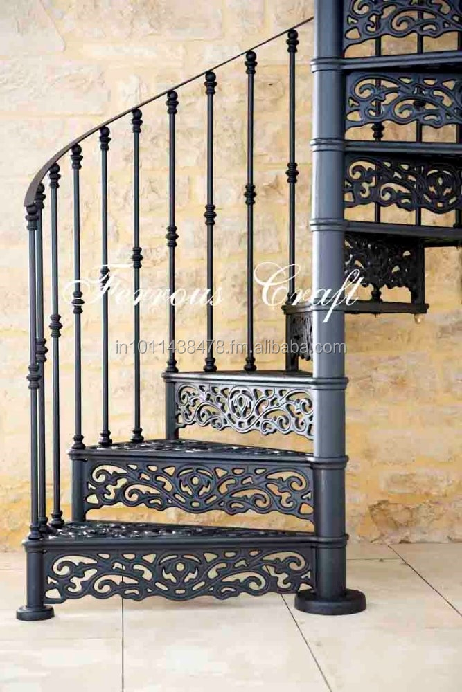 Cast Iron Spiral Staircase Buy Outdoor Spiral Staircase Wrought | Cast Iron Spiral Staircase Cost | Balcony | Stair Parts | Stainless Steel | Low Cost | Shenzhen