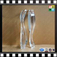 Hot sale clear acrylic furniture legs/high quality acrylic ...