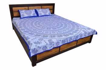 Jaipur Sanagari Print Famous Usa,uk 100%cotton Bed Sheet