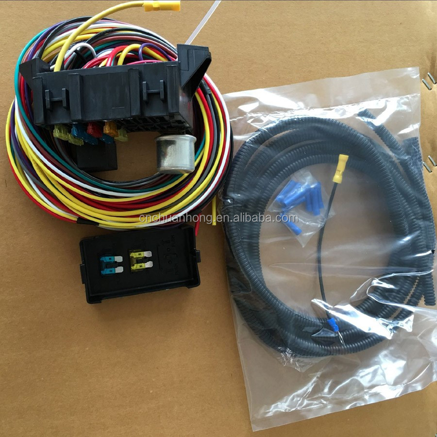 medium resolution of 12v 8 fuse circuit auto wire harness kits for muscle car hot rod street rod
