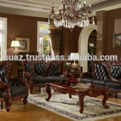 Wooden Sofa Living Room Small Tables Classic Furniture Luxury Set Solid Designs