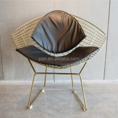 Diamond Chair Replica Stability Ball Dining Room Harry Bertoia Style Welded Gold Wire Steel Lounge