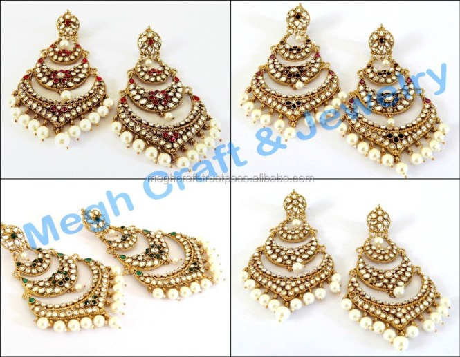 Traditional Indian Kundan Earrings Supplieranufacturers At Alibaba