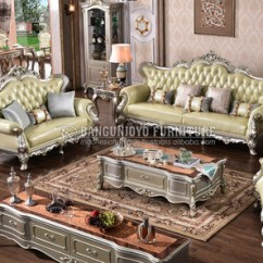 Wood Frame Living Room Furniture Best Ceiling Fans For India Silver Color Antique Fabric Sofa Set