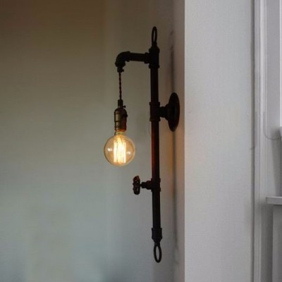 Pipe Lighting Brass Cages Wall ArtSteampunk