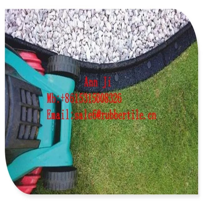 recycled rubber tyres play area border