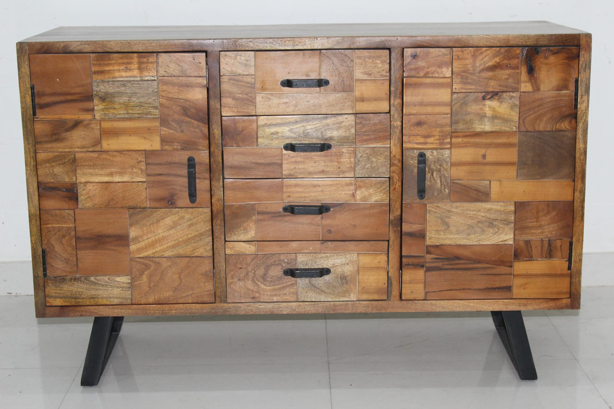 Sideboard Modern Modern Furniture Sideboard Design With Matt Black Metal Base Industrial Mango Wood 2 Drawers 4 Door Sideboard With Iron Legs - Buy Sideboard Living Room Furniture,industrial Modern Sideboard,mango Wood 2 Drawers 4