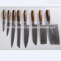 Affordable Kitchen Knives Natural Wood Cabinets Set Of 8 Pcs Cutlery China Cleaver Knife