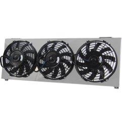 get quotations primecooling aluminum shroud 3pcs 9 cooling fan for jeep cherokee xj comanche [ 1600 x 1600 Pixel ]