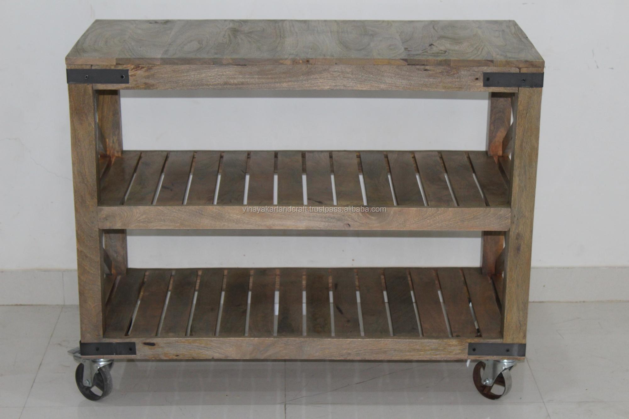 vintage industrial kitchen cart