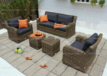 poly rotin synthetique jardin exterieur canape ensemble meubles de patio en rotin pvc exterieur jardin canape