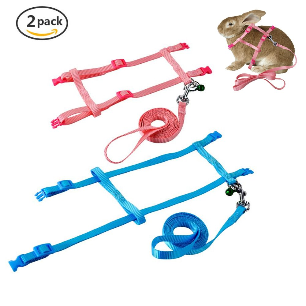 hight resolution of get quotations persuper 2 pack pet rabbit harness leash for soft nylon running