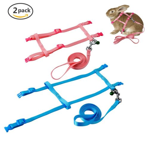small resolution of get quotations persuper 2 pack pet rabbit harness leash for soft nylon running
