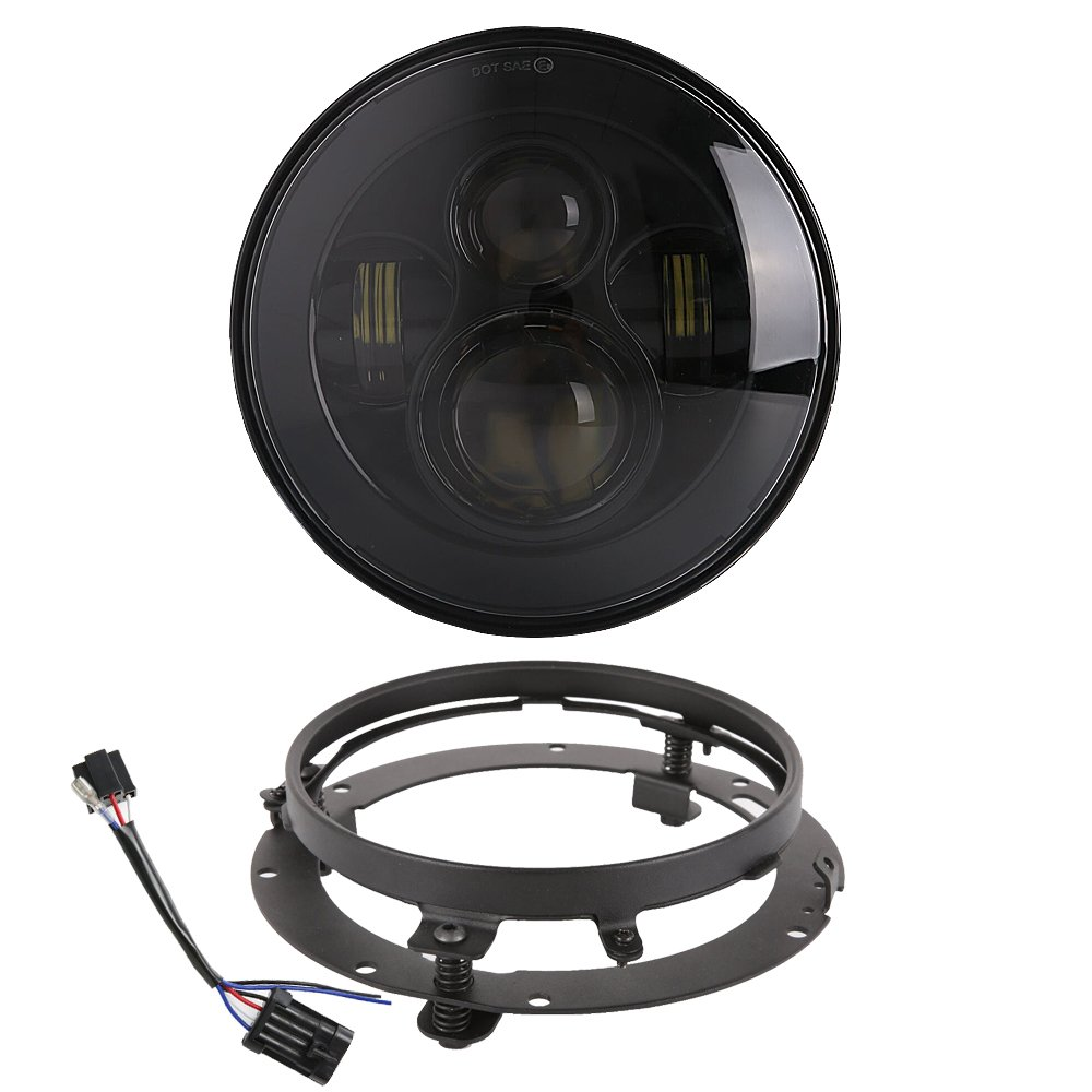 medium resolution of get quotations 7 inch daymaker led headlight with mounting bracket ring wire harness for harley davidson 1994