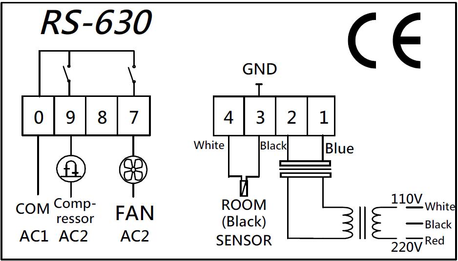 Digital 12v Refrigerator Fan And Temperature Controller