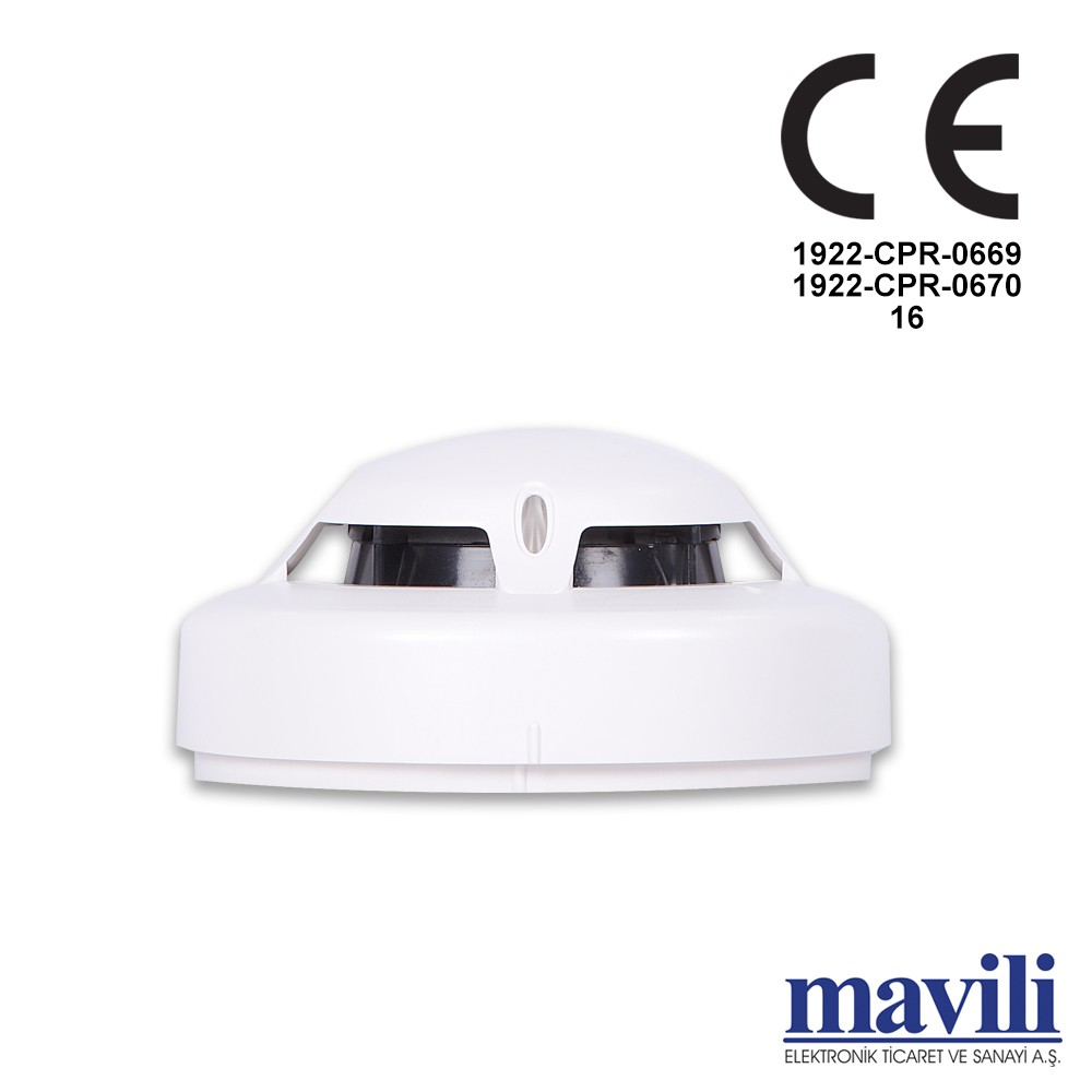 hight resolution of intelligent addressable optical smoke detector with short circuit isolator