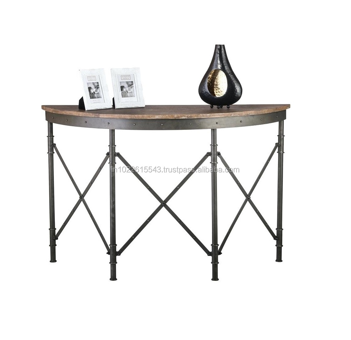 Industrial Rustic Wood Iron Console Vintage Iron Wood Console Table Buy Antique Wood Console Tables Antique Iron Console Table Reclaimed Wood