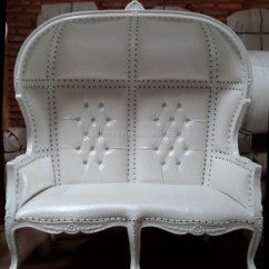 French Canopy Chair Lounge Bedroom Wedding Loveseat Throne White On Wholesale