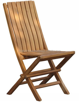 Wood Solid Teak Folding Beach Chair Garden & Patio Outdoor