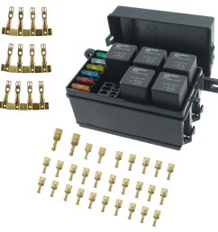 get quotations iztor universal 6 way blade fuse holder box with spade terminals and fuse 5pcs 4pin [ 2500 x 2500 Pixel ]