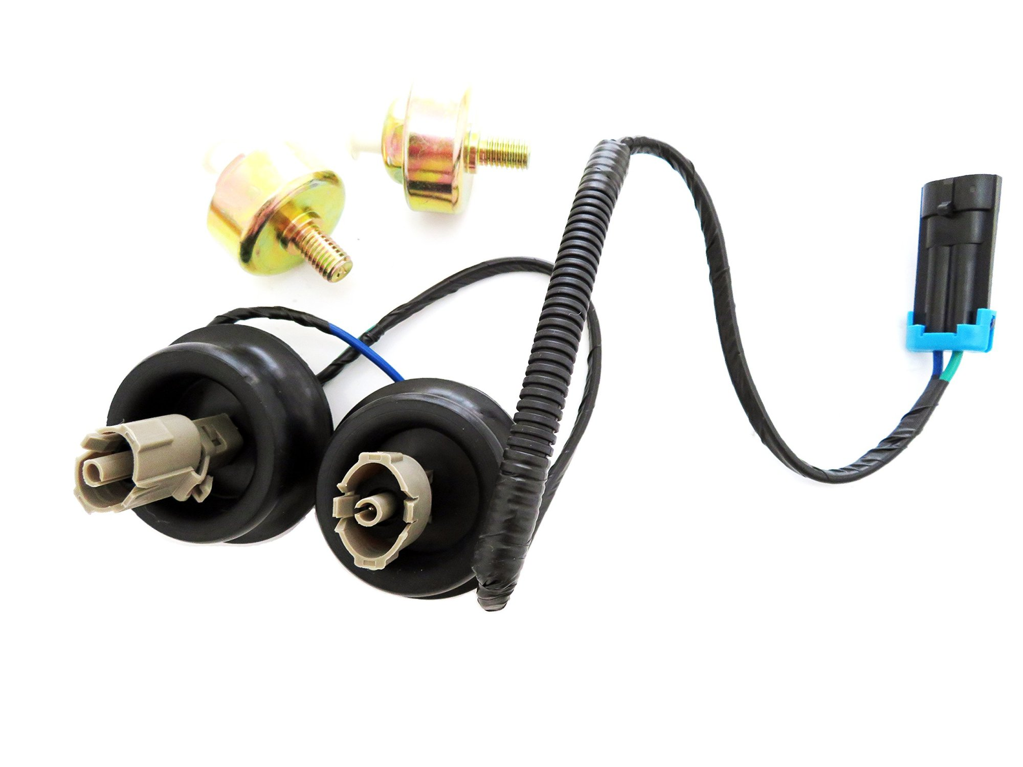 hight resolution of get quotations knock sensor with harness pair kit set for chevy gmc silverado sierra cadillac
