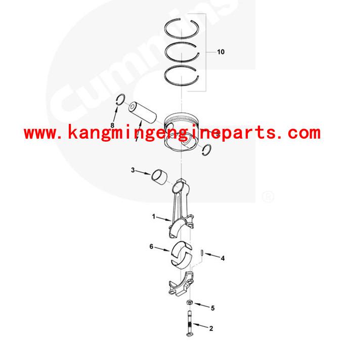 Chongqing Engine Parts 205840 Connecting Rod Bearing Kta19