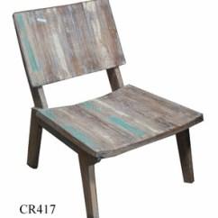 Antique Beach Chair High Back Outdoor Cushion 2 Pack Wooden
