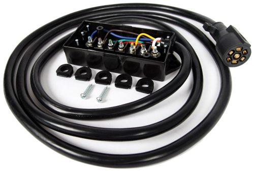 small resolution of get quotations lavolta 7 way trailer connector plug cord 7 pin wiring harness with junction
