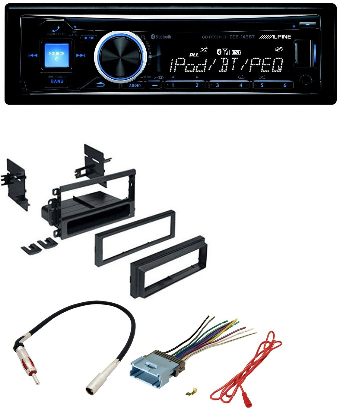 hight resolution of get quotations car radio stereo dash kit harness antenna for gm gmc chevy cadillac pontiac with alpine cd