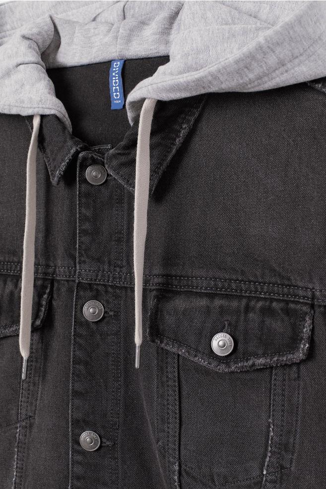Mens Clothing Wholesale Plain Black Clue Colored Hooded Vintage Denim Hoodie Jeans Jacket Men Denim Jacket Supplier For Man - Buy Mens Clothing ...