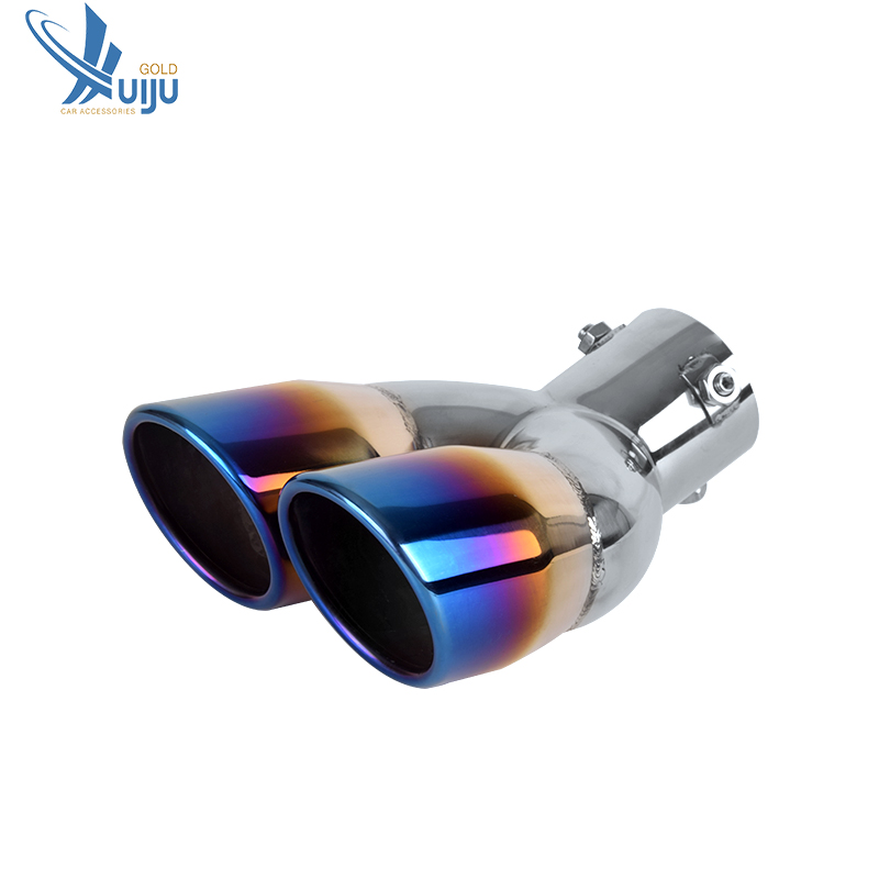 new type car exhaust pipe stainless steel blue exhaust tips exhaust tail pipe buy universal exhaust muffler racing exhaust muffler exhaust pipe car