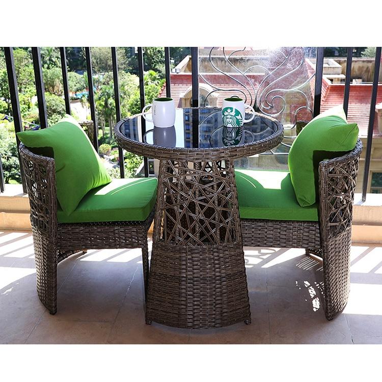 outdoor furniture space saving pe rattan garden chairs balcony table modern relaxing patio dining sets buy outdoor furniture space saving pe rattan
