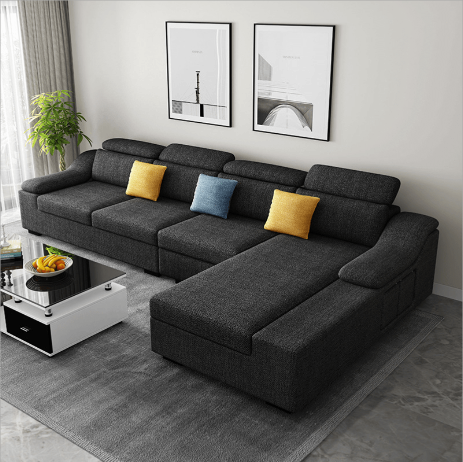 modern simple design large size u shaped fabric couch living room 7 seater chaise lounge recliner sectional corner sofa sets buy 7 seater cheap sofa