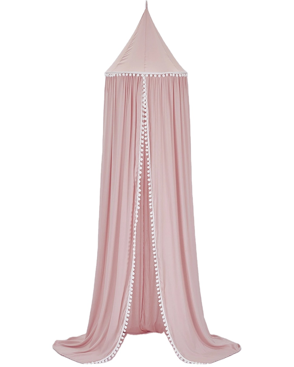 plhmia baby bed canopy curtain round top dome hanging mosquito net cover for bedding room buy canopy bed play tent crib canopy product on