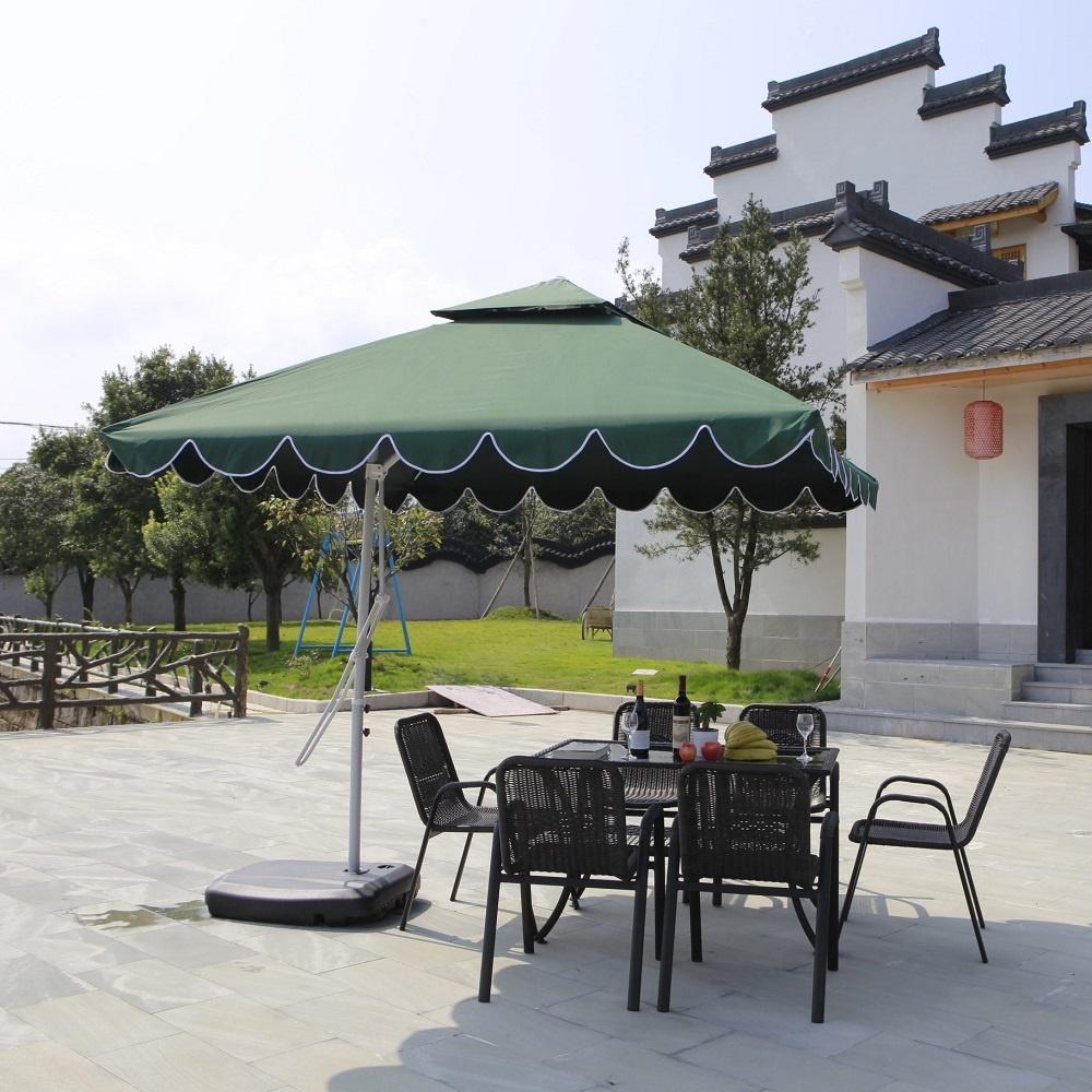 outdoor patio cafe green waterproof stand rectangular cantilever 2 2m patio sun umbrella buy restaurant umbrella parasols luxury beach color