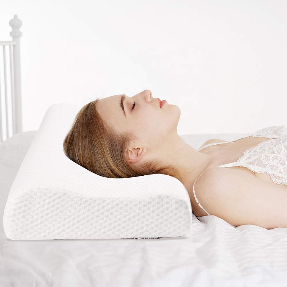 large size 60x40x12 10cm wave shaped contour memory foam neck pillow buy vive contour pillow contour foam pillow cervical contour pillow product on