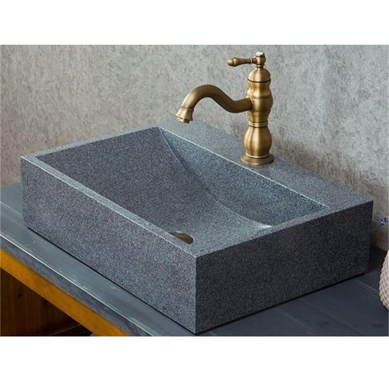 rectangular g654 sesame grey trough stone sink bathroom vanity granite vessel sink buy stone sink rectangular g654 sesame grey trough stone sink