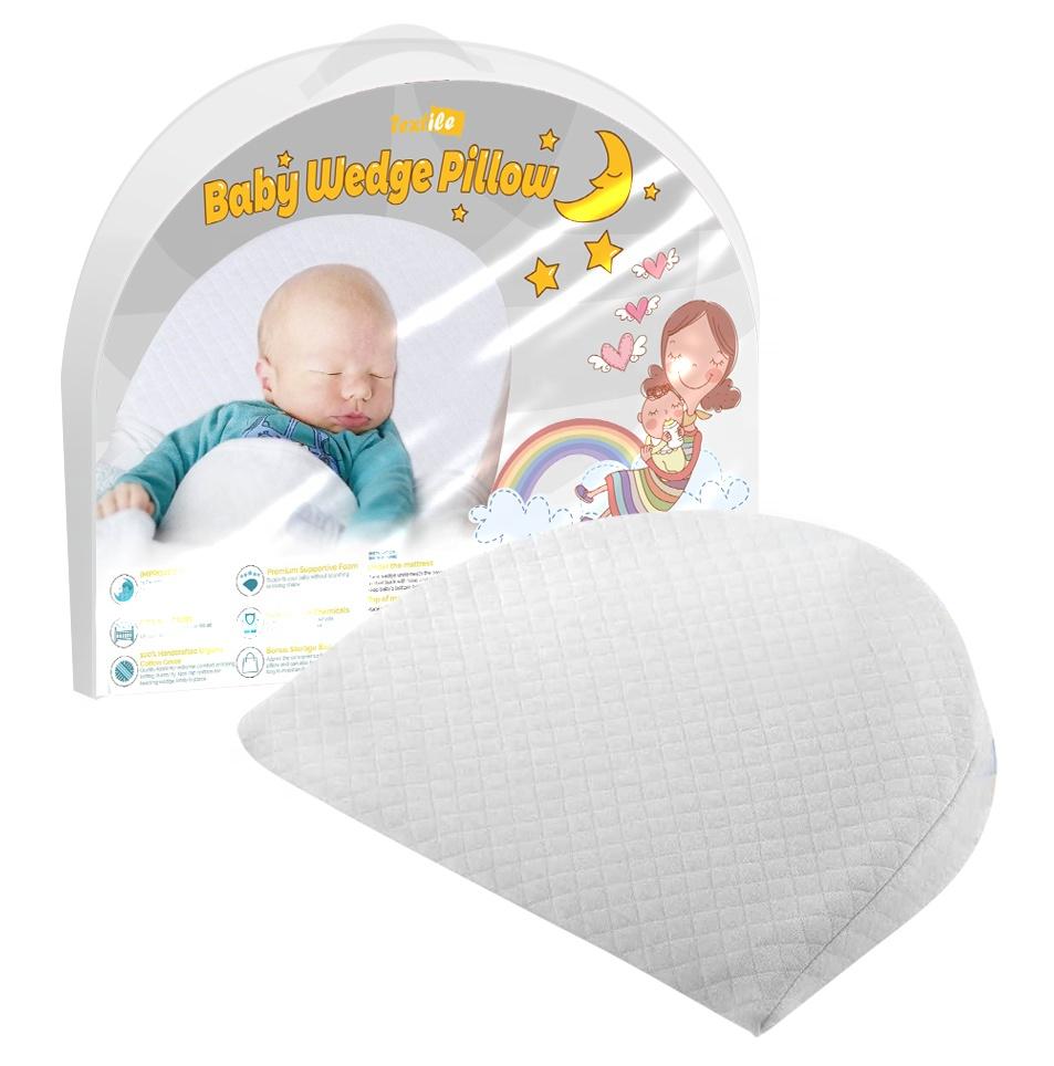 pregnant women and newborn baby wedge anti vomiting white sleep pillow baby cushion for baby stroller buy baby head pillow for newborn baby stroller baby sleep pillow cotton removable cover memory foam crib