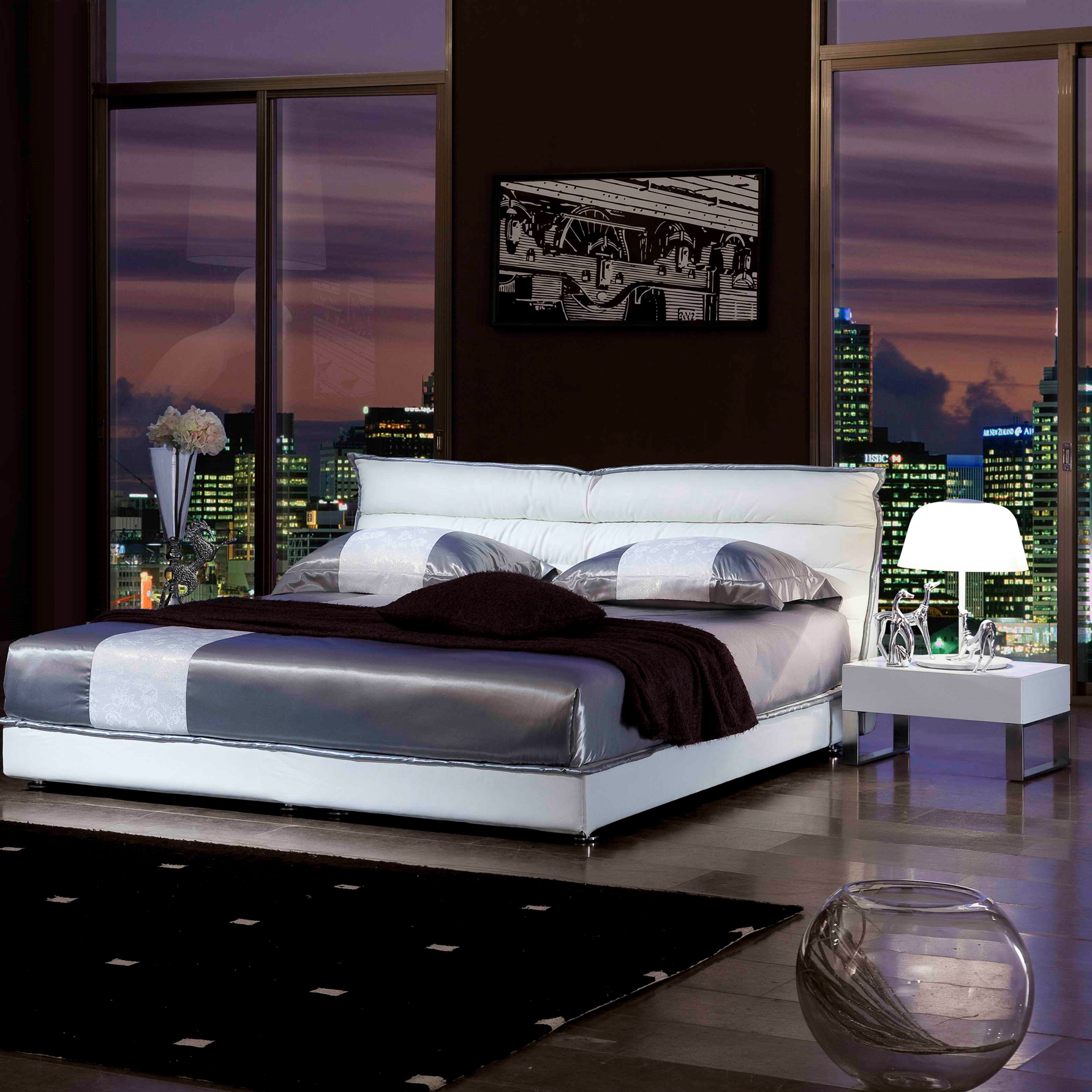chic boy man white leather soft bed simple modern soft bedroom home furniture foshan shunde market buy boy man leather bedroom furniture modern