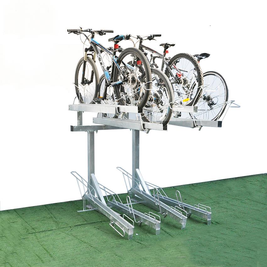 compact two tier durable bike parking rack buy bike rack two tier bike rack bicycle rack product on alibaba com
