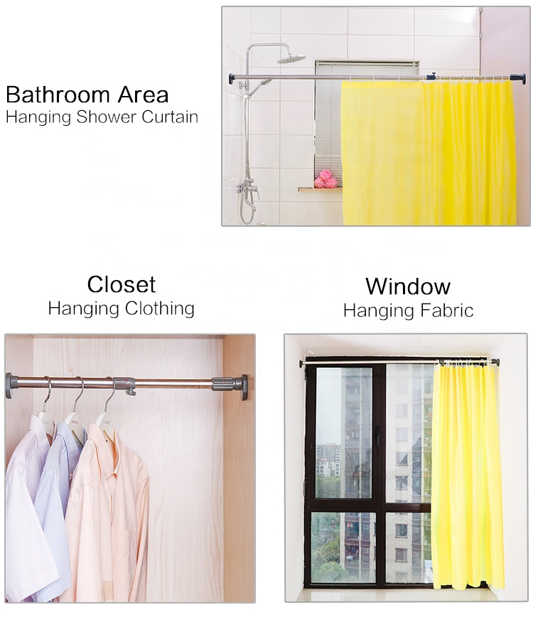 baoyouni hot clothes hanging pole retractable extendable curtain rods for closet bathroom window balcony 22 2 25 4mm buy clothes hanging pole