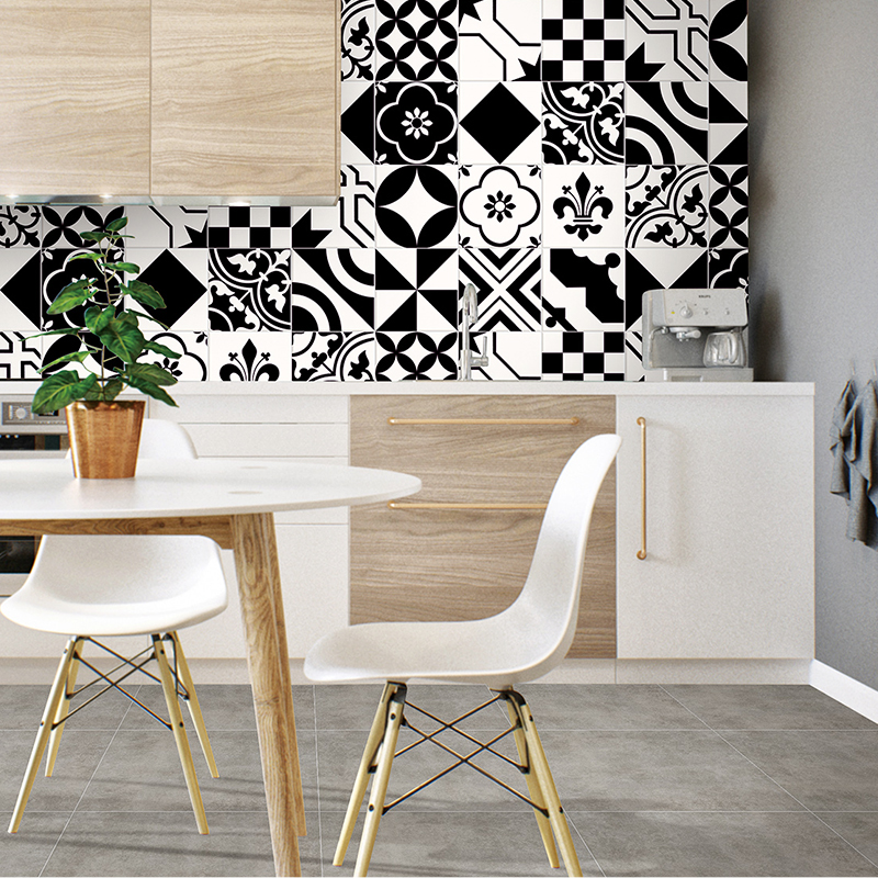 new design mixed packing 200x200 wall black and white art deco floor tiles buy 200 200 cheap price arts and crafts kitchen tiles supplier in china