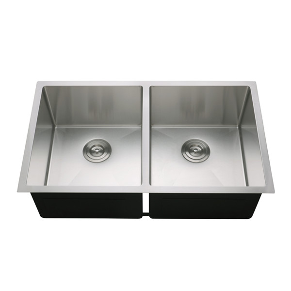 33 inch undermount double bowl stainless steel kitchen sinks 16 gauge 33x19 rd 3319 buy stainless steel sink kitchen sink farm sink product on