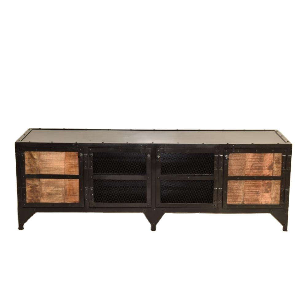Tv Board Industrial Indian Handmade Industrial Look Tv Low Board Cabinet Made By Wood And Metal Crafted In India - Buy Floating Tv Cabinet,modular Tv Cabinets,indian Handmade Industrial Look Tv Low Board Cabinet Made By