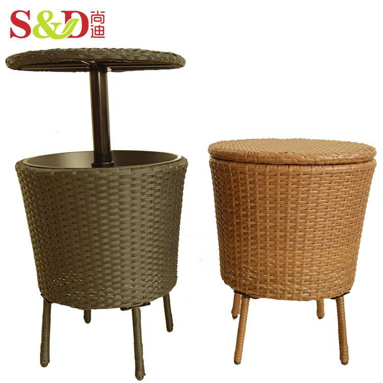 outdoor patio furniture side coffee table and drink cooler insulated stainless steel rattan ice bucket buy coffee table drink cooler insulated