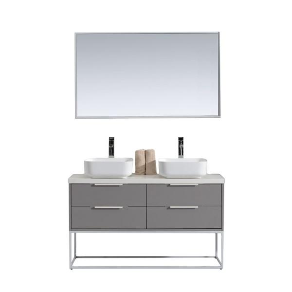 vama 48 inch double sink vanities freestanding modern bathroom cabinet stainless steel buy 48 double sink vanities hotel luxury two basin cabinet