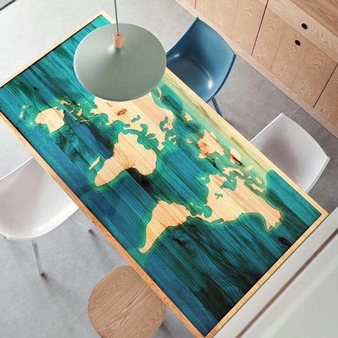 carte du monde personnalisee epoxy resine bois table riviere table a manger buy table en resine epoxy table en resine resine table en resine table