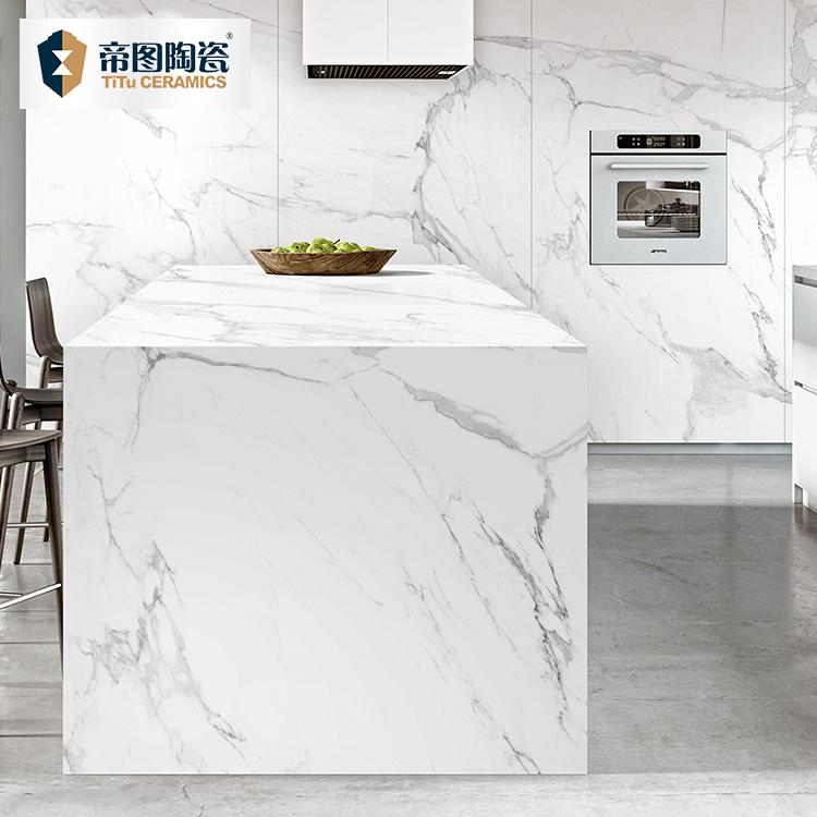 large format statuario white marble look tile slab countertop luxury big size porcelain statuario white kitchen wall floor tile buy white kitchen